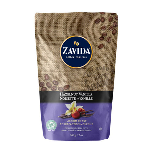 Zavida Coffee, Hazelnut Vanilla, 12 oz Bag