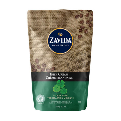 Zavida Coffee, Irish Cream, 12 oz Bag