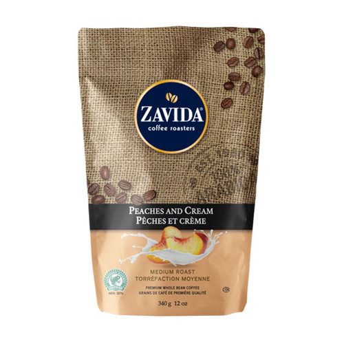 Zavida Coffee, Peaches and Cream, 12 oz Bag