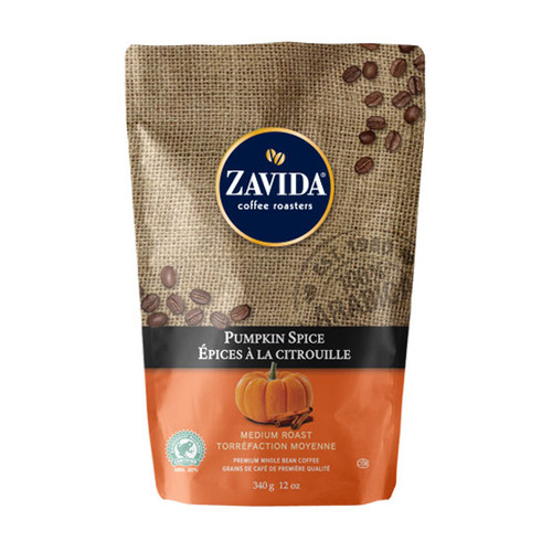 Zavida Coffee, Pumpkin Spice, 12 oz Bag
