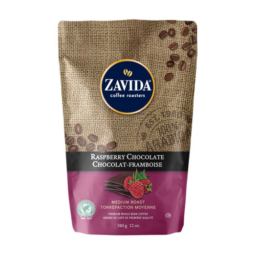 Zavida Coffee, Raspberry Chocolate, 12 oz Bag