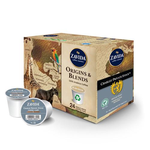 Zavida Coffee, Charles Private Stock, Single Serve Box (24 count)