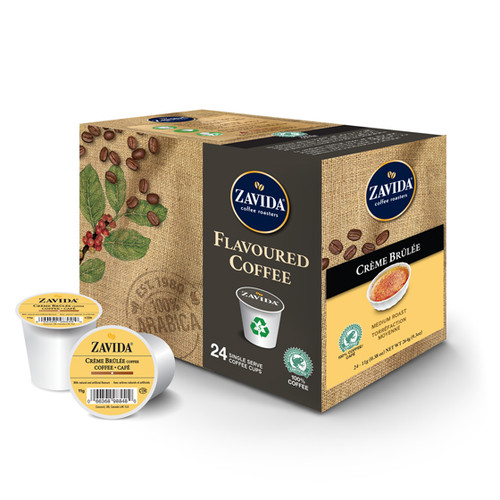 Zavida Coffee, Creme Brulee, Single Serve Box (24 count)
