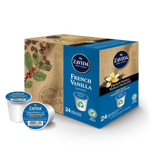 French Vanilla Dark Roast Single Serve Coffee Cups - 24ct