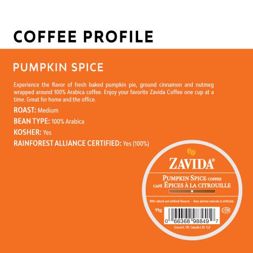 Pumpkin Spice Single Serve Coffee Cups - 24ct