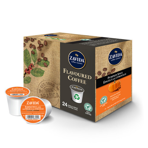 Zavida Coffee, Pumpkin Spice, Single Serve Box (24 count)