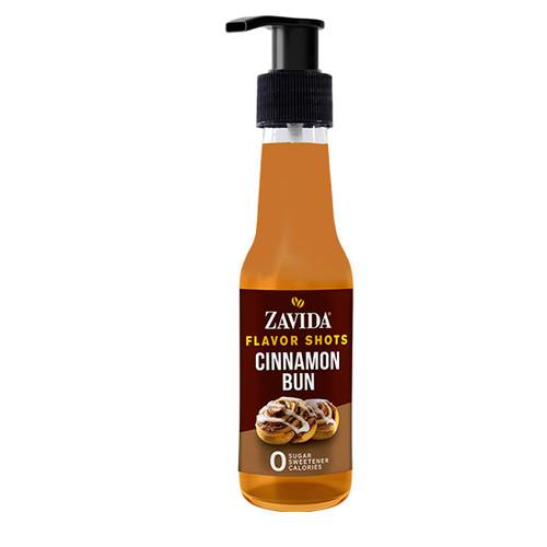 Zavida Coffee, Cinnamon Bun, 148mL Bottle of Flavor Shots