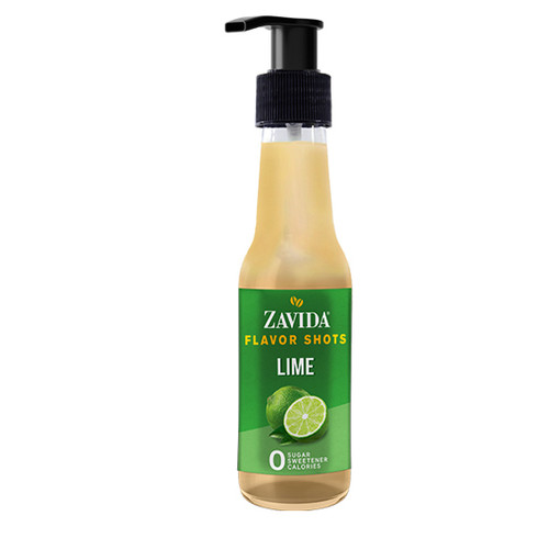 Zavida Coffee, Lime, 148mL Bottle of Flavor Shots