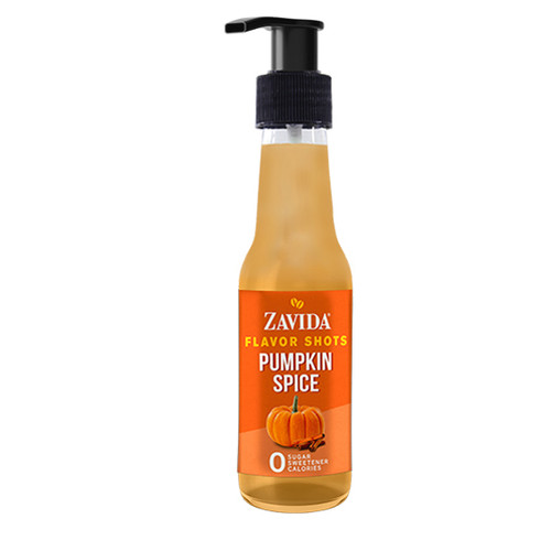 Zavida Coffee, Pumpkin Spice, 148mL Bottle of Flavor Shots
