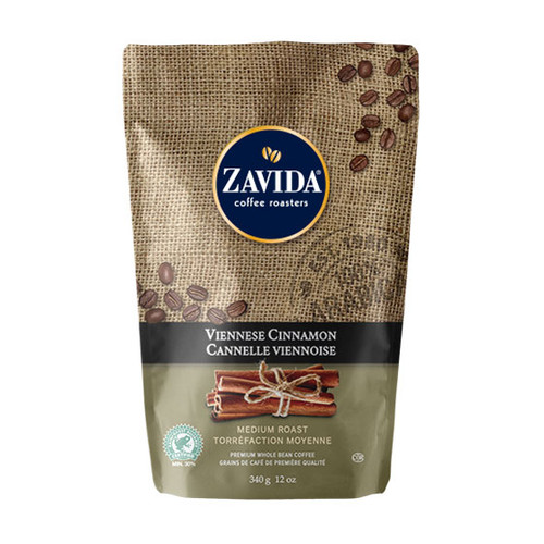 Zavida Coffee, Viennese Cinnamon, 12 oz Bag