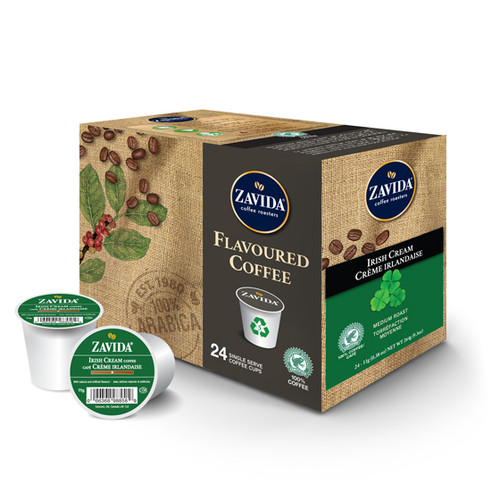 Zavida Coffee, Irish Cream, Single Serve Box (24 count)