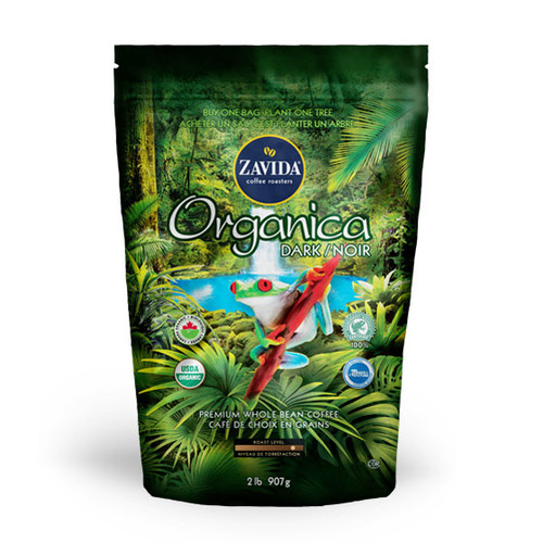 Zavida Coffee, Wholesale Organica Dark Roast, 2LB Whole Bean Bag
