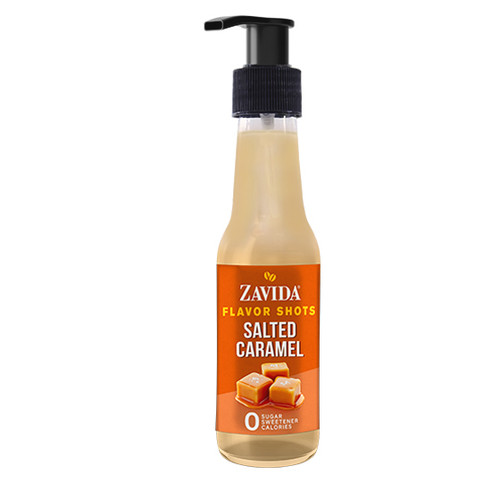 Zavida Coffee, Salted Caramel, 148mL Bottle of Flavor Shots