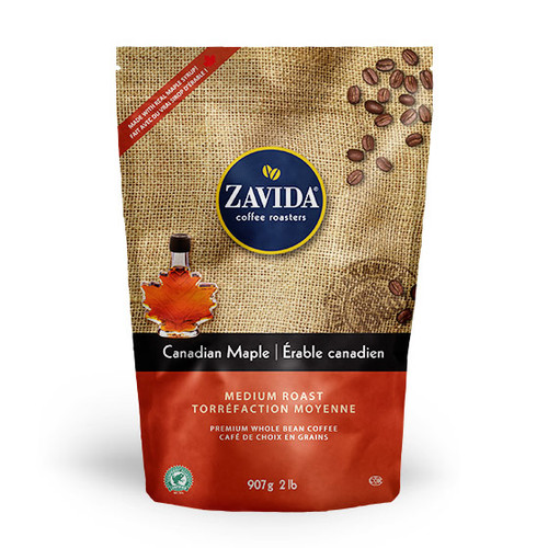 Zavida Coffee, Wholesale Canadian Maple, 2LB Whole Bean Bag
