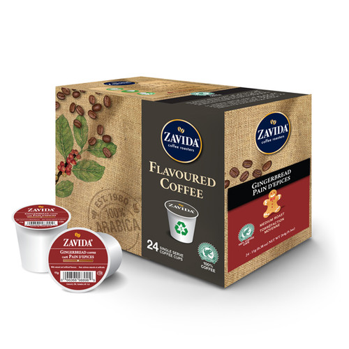 Zavida Coffee, Gingerbread, Single Serve Box (24 count)