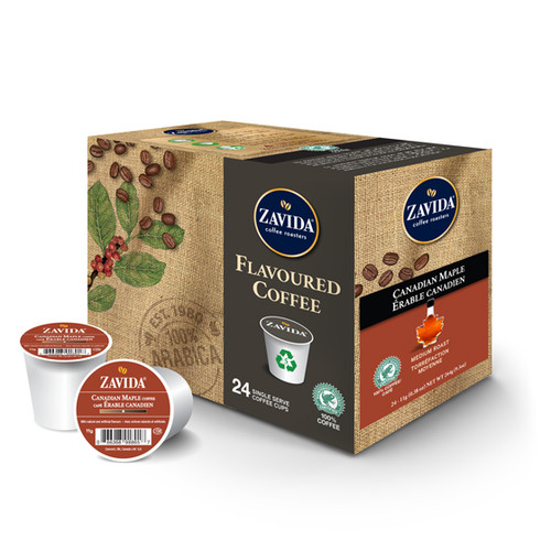 Zavida Coffee, Canadian Maple, Single Serve Box (24 count)