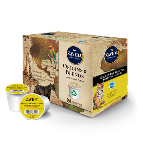 Golden Isle 100% Sumatra Single Serve Coffee Cups - 24ct