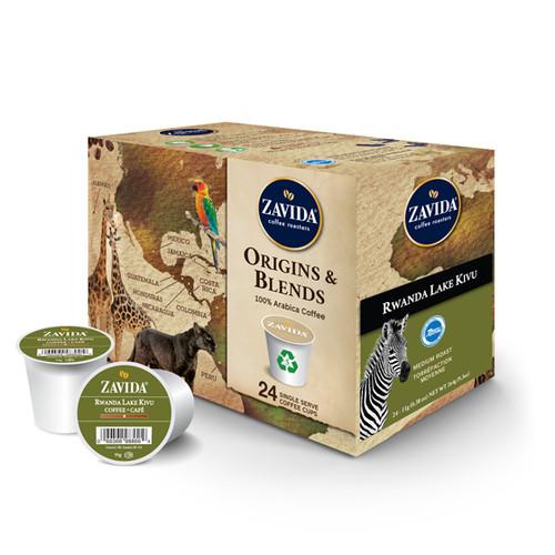 Rwanda Lake Kivu Single Serve Coffee Cups - 24ct