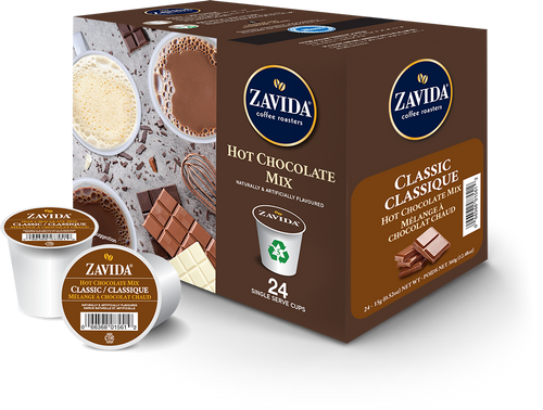 Zavida Coffee, Hot Chocolate, Single Serve Box (24 count)
