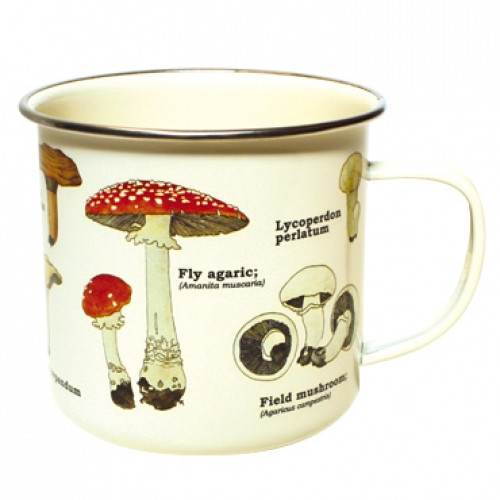 Forest Mushroom Enamelware Mug