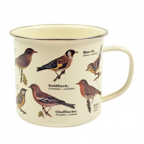 Forest Birds Enamelware Mug