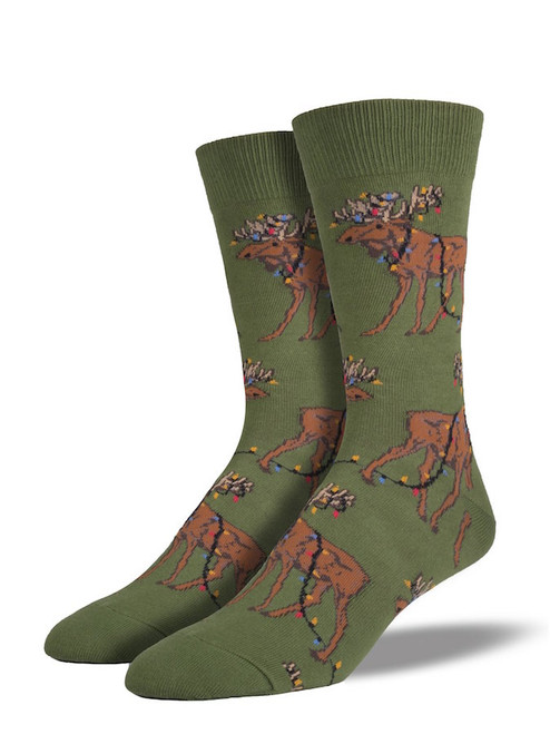 Holiday Moose Socks