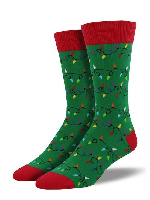 Holiday Lights Socks - Green