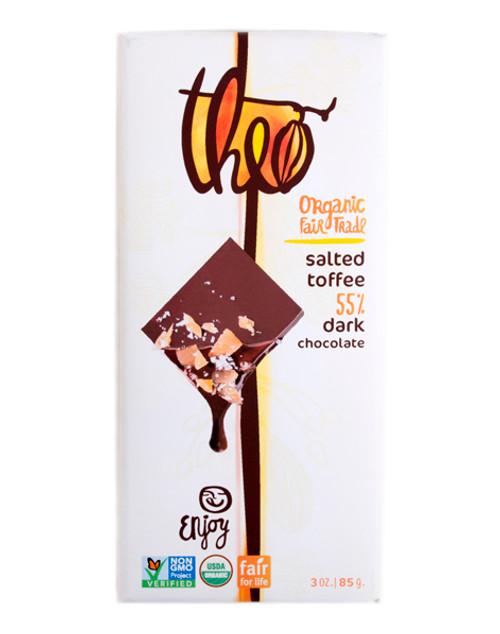 Theo Organic Salted Toffee Chocolate Bar