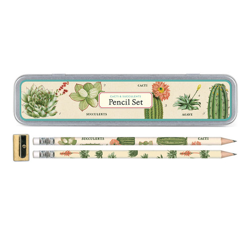 Cacti and Succulent Pencil Set