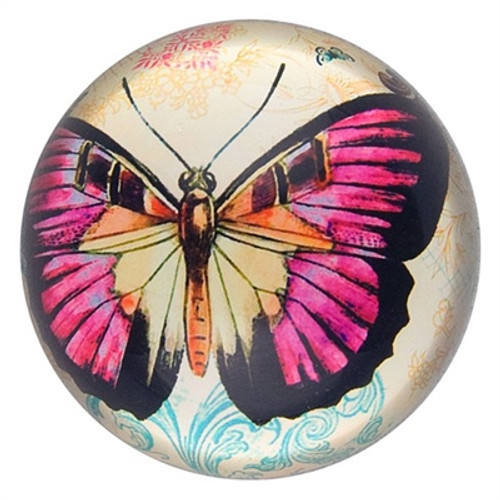 Butterfly Paperweight - Fuschia