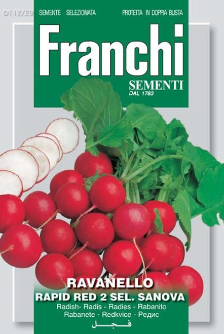 Franchi Seeds - Radish Rapid Red Sanova