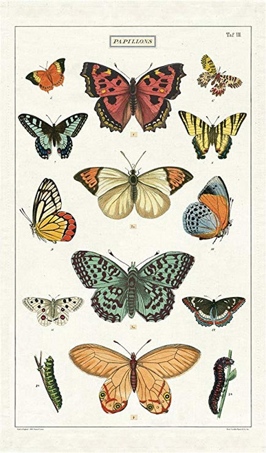 Vintage Butterfly Tea Towel