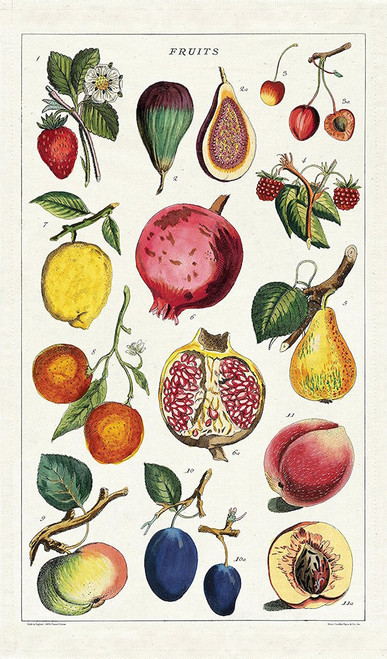 Seasonal Fruits Tea Towel