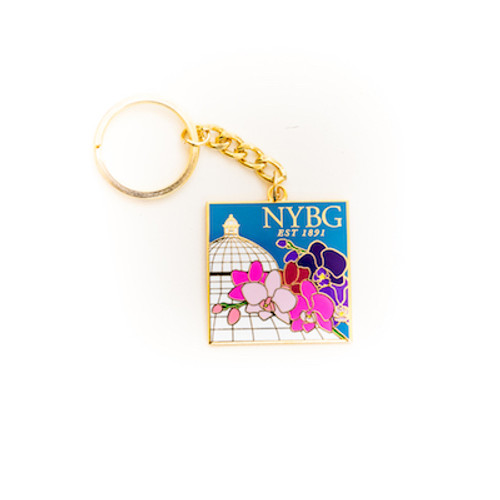 NYBG Orchid Keychain