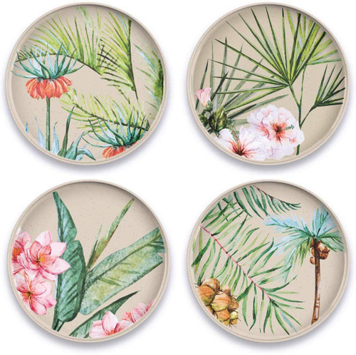 Palermo Tropical Bamboo Salad Plate