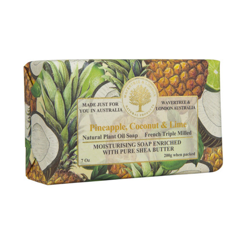 Pineapple, Coconut, and Lime 7oz Soap Bar