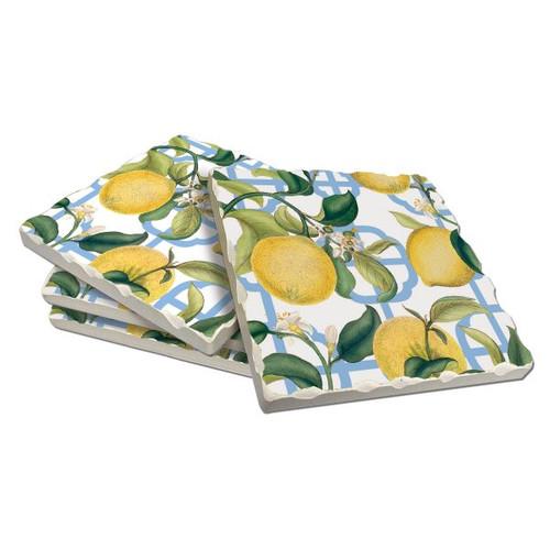 Seville Lemon Coaster Set of 4