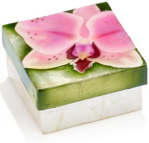 Pink Orchid Capiz Box