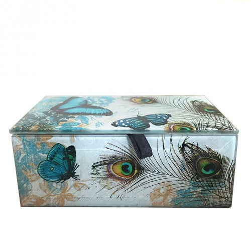 Blue Butterfly Treasure Box