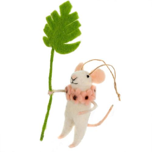 Monstera Felt Mouse Ornament