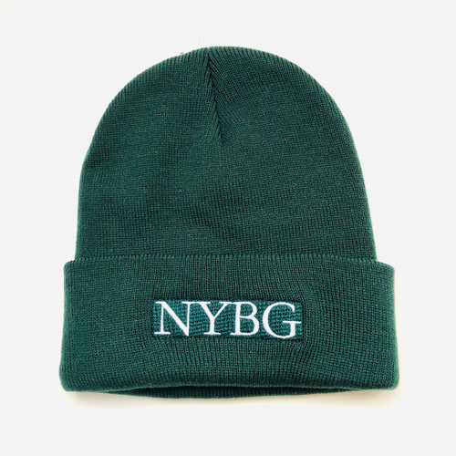Forest Green Knit NYBG Hat