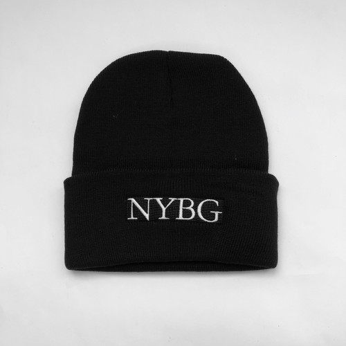 Black Knit NYBG Hat