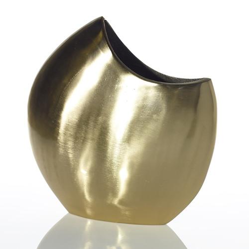 Large Gold Crescent Vase