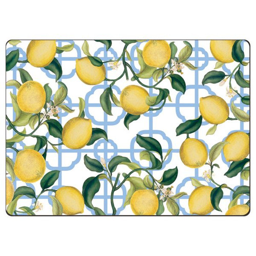 Seville Lemon Hardback Placemat - Set of 4