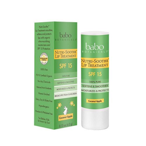Babo Botanicals Nutri-Soothe SPF 15 Lip Treatment