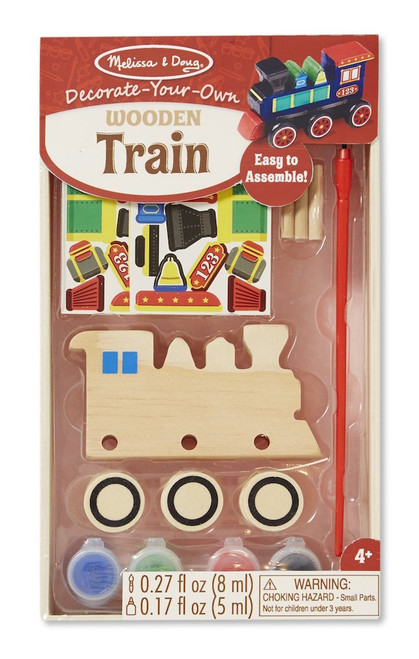 Melissa & Doug Decorate Your Own Wood Train Set