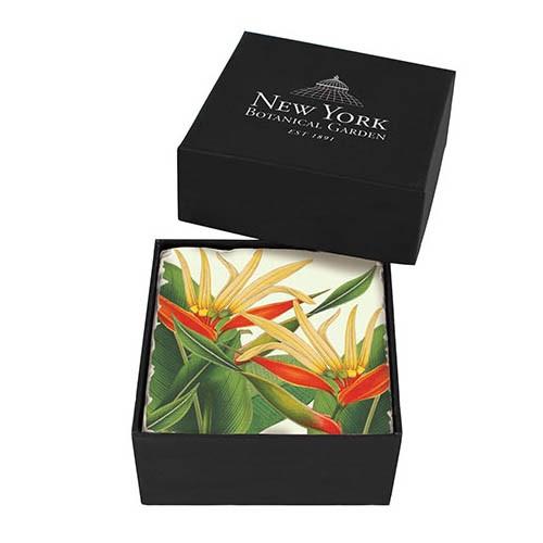 NYBG Heliconia Stoneware Coaster Set