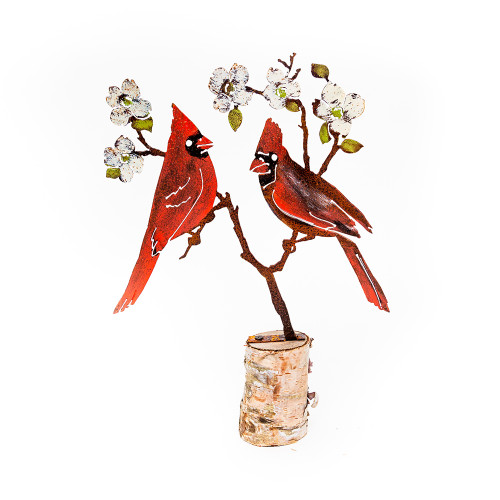 Mounted Painted Cardinal on Dogwood