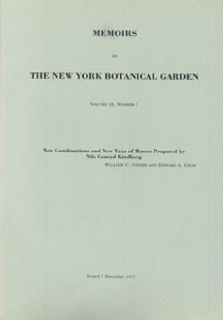 New Combinations and New Taxa of Mosses by Nils Conrad Kindberg. Mem (28)2