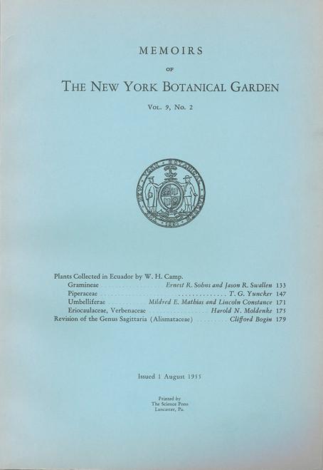 Plants Collected in Ecuador by W. H. Camp: Gramineae, Piperaceae, etc. Mem (9)2